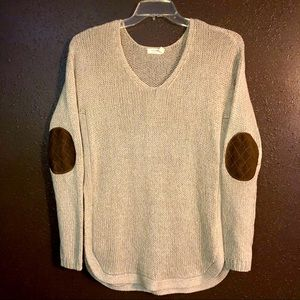 HARPER HERITAGE Elbow Patch Knit Sweater Top M